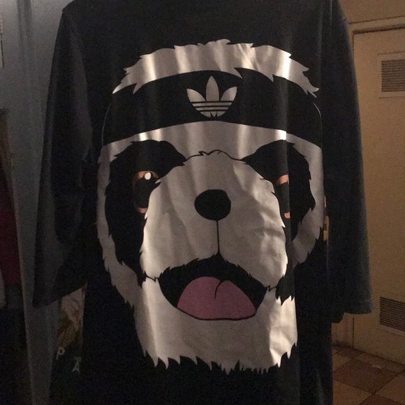 more photos 8fb52 c0287 Jeremy Scott x Adidas Other - Jeremy Scott x adidas panda shirt oversized  fits L